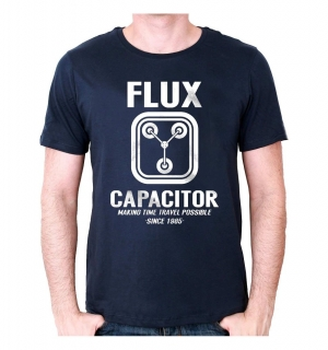 Tričko - Back to the Future - Flux Capacitor - Navy