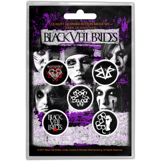 Set odznakov Black Veil Brides - Pentagram