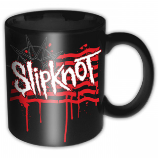 Hrnček Slipknot - Dripping Flag & Logo - Premium