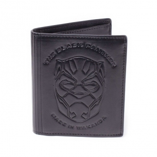 Peňaženka Black Panther - Debossed Leather Trifold - Black