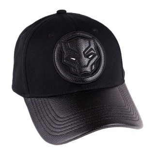 Šiltovka Black Panther - Leather Symbol - Black