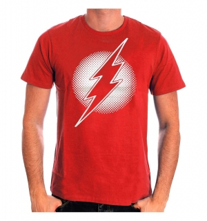 Tričko The Flash - Silver Logo - Red