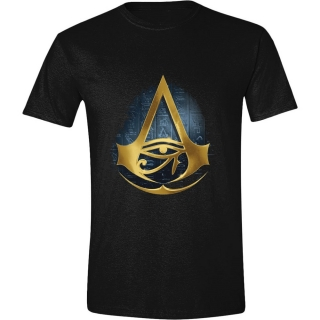 Tričko Assassins Creed Origins - Hyroglyphics Logo- Black