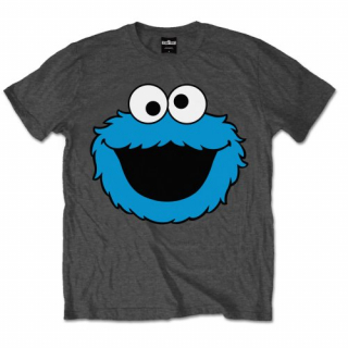 Tričko Sesame Street - Cookie Head, charcoal grey