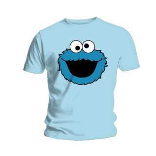 Tričko Sesame Street - Cookie Head, light blue