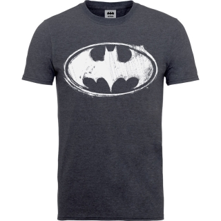 Detské tričko Batman - Sketch Logo, navy blue heather