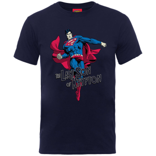 Detské tričko Superman - Son of Krypton, navy blue