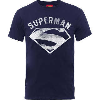 Tričko Superman - Logo Spray, navy blue