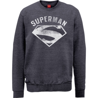 Pánsky Sweatshirt Superman - Logo Spray, grey