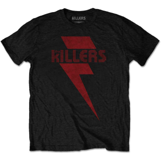 Tričko The Killers - Red Bolt, black