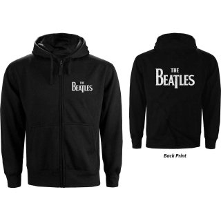 Mikina so zipsom The Beatles - Drop T Logo (čierna)