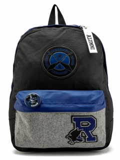 Batoh Harry Potter - Ravenclaw House Patches Backpack - Black