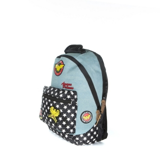Batoh - DC Comics - Denim Patch Backpack, Multicolor