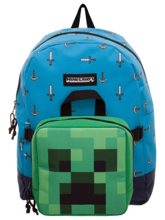 Batoh - Minecraft - Sword Axe Detachable Lunch Box Backpack