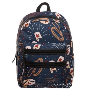 Batoh Wonder Woman - Double Zip All Over Printed Backpack