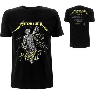 Tričko Metallica - AND JUSTICE FOR ALL TRACKS (BACK PRINT)