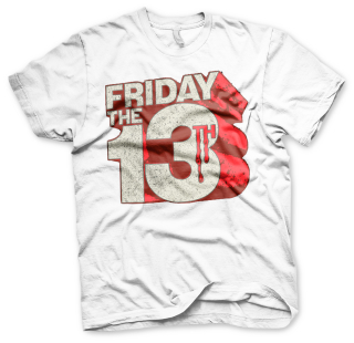 Tričko Friday The13th - Block Logo, white