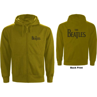 Mikina so zipsom The Beatles - Drop T Logo (zelená)